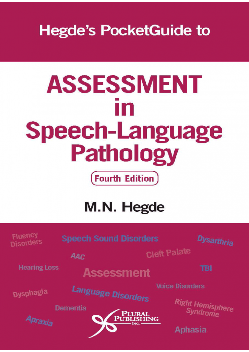 Hegde's PocketGuide to Assessment in Speech-Language Pathology