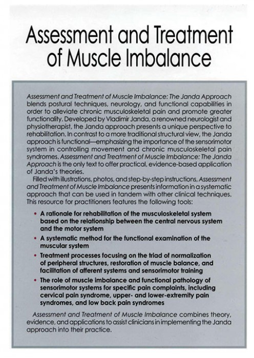 Assessment And Treatment Of Muscle Imbalance The Janda Approach